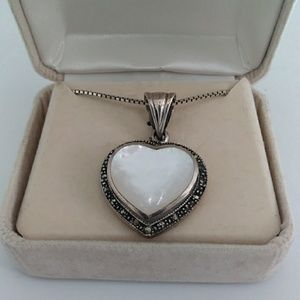 Vintage Heart Pendant With Moonstone